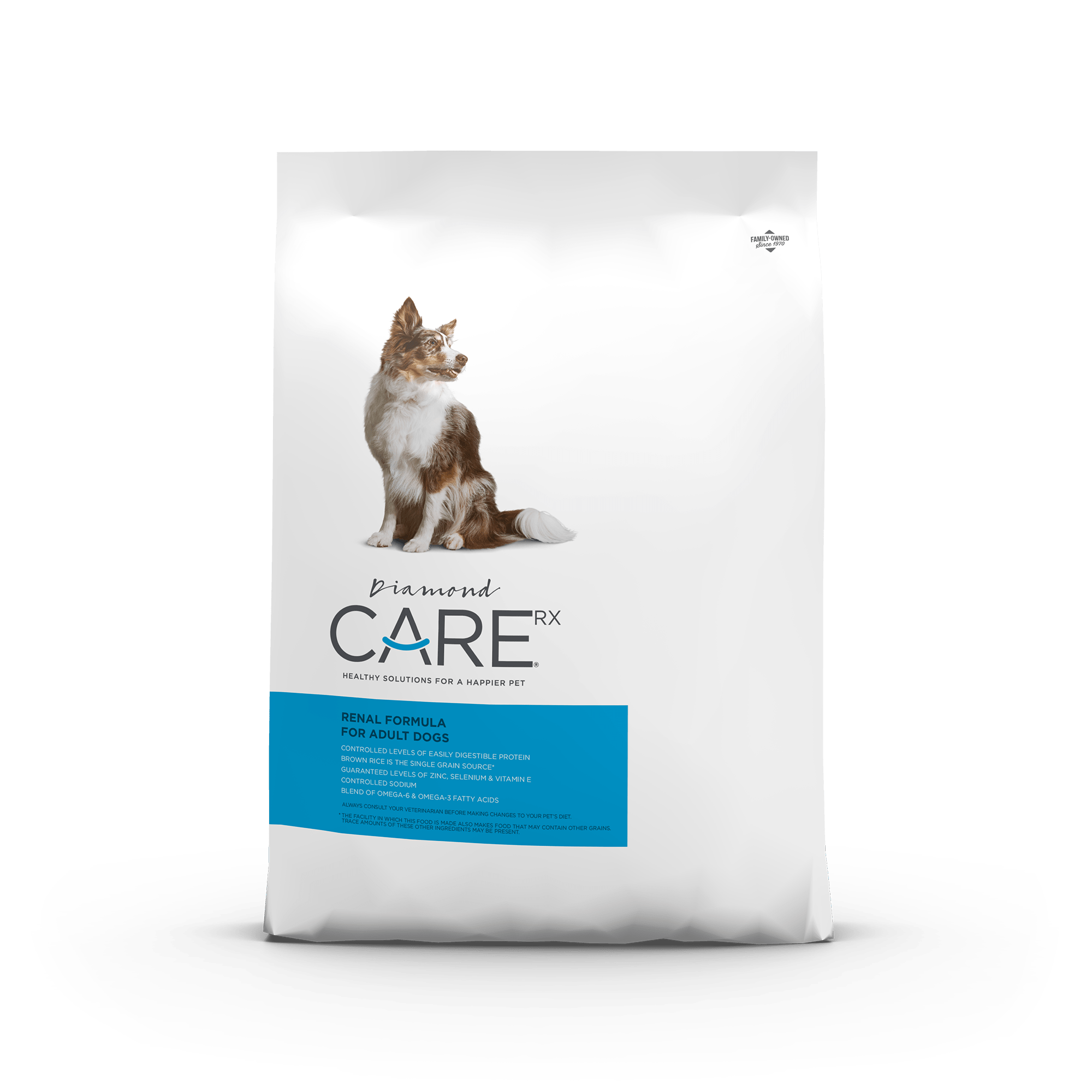 Diamond CARE Rx Prescription Renal Formula for Adult Dogs product packaging