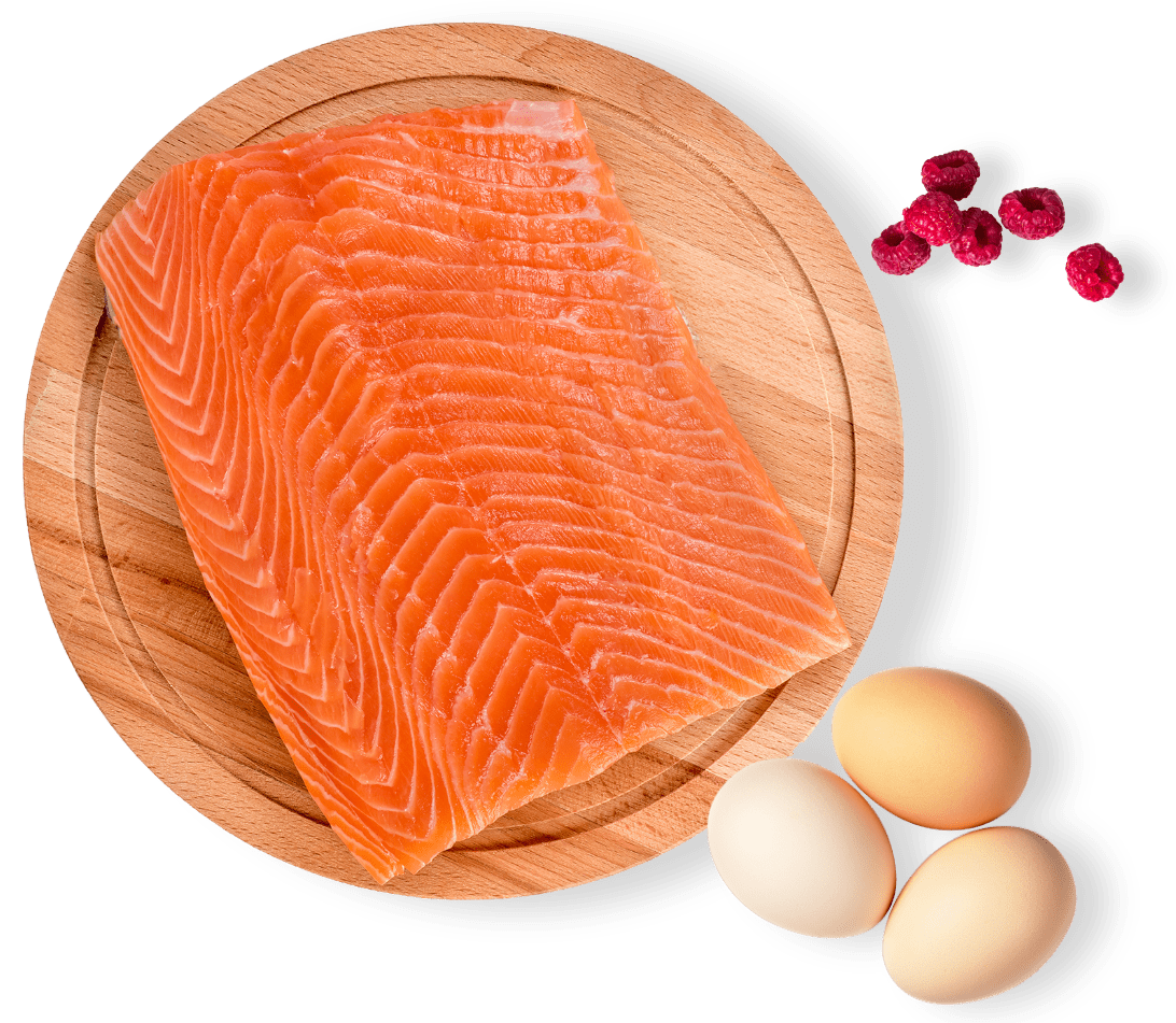 Salmon Eggs and Berries