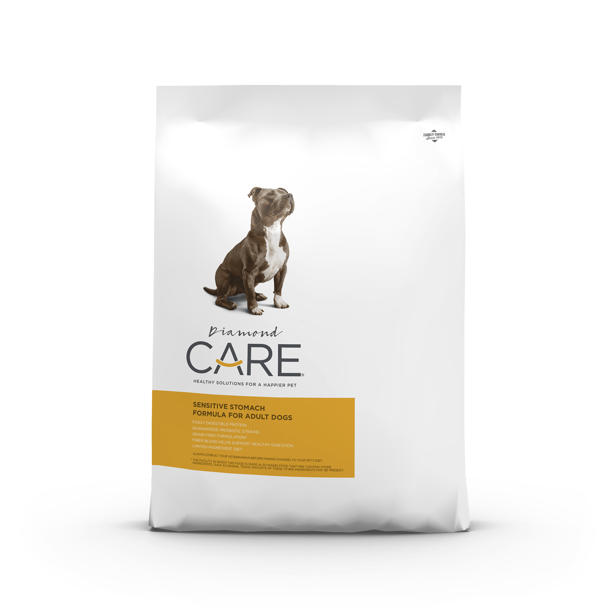 Diamond CARE Sensitive Stomach Formula for Adult Dogs product packaging