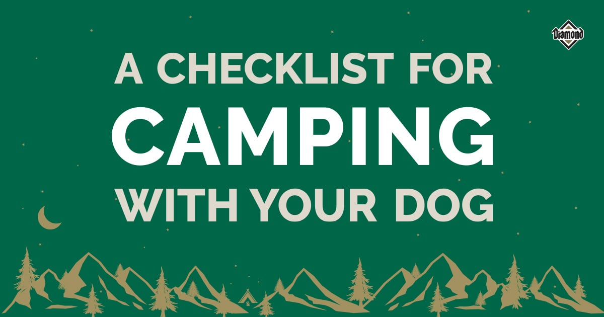 A Checklist for Camping with Your Dog | Diamond Pet Foods